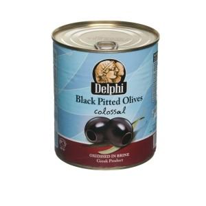Греческие черные маслины Delphi colossal — 820 гр