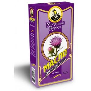 """Масло из семян расторопши, """"Масляный Король"""", 0,10 л, стекло"""