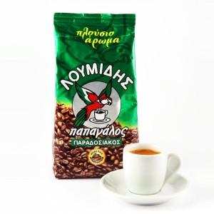 """Греческий кофе """"Лумидис папагалос"""" (зеленая упаковка) - 200 гр"""