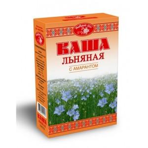 """Каша льняная с амарантом, """"Масляный Король"""", 400 г., коробка"""