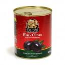 Греческие черные маслины супер маммут с косточкой — 465 гр