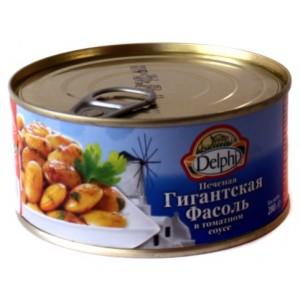 Печеная фасоль в томатном соусе гигантская - 280 гр
