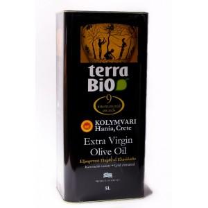 Оливковое масло Terra Bio, Extra Virgin, PDO, 5 л