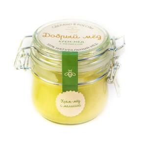 Крем-мед с мелиссой 250 гр, стеклянная банка