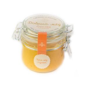 Крем-мед с абрикосом 250 гр, стеклянная банка