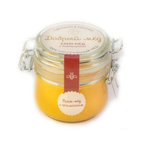 Крем-мед с апельсином 250 гр, стеклянная банка