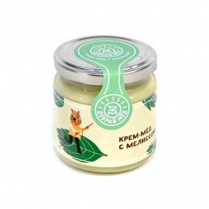 Крем-мед с мелиссой 220 гр, стеклянная банка
