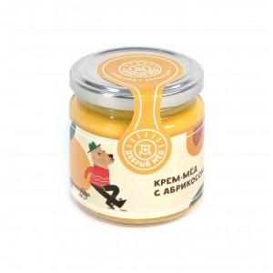 Крем-мед с абрикосом 220 гр, стеклянная банка