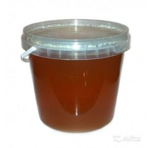 Мед натуральный, цветочный, 1,4 кг, пластиковая банка
