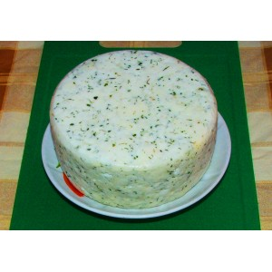 Деревенский чесночный сыр, 200 г, вакуум