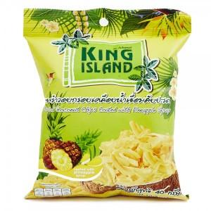 Кокосовые чипсы с ананасом King Island 40 гр
